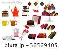 バレンタインのセット。コーヒータイム素材。チョコレート菓子の素材。 36569405