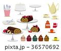 チョコレートケーキ カップケーキ デザートのイラスト 36570692