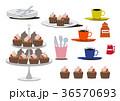 チョコレートケーキ カップケーキ デザートのイラスト 36570693