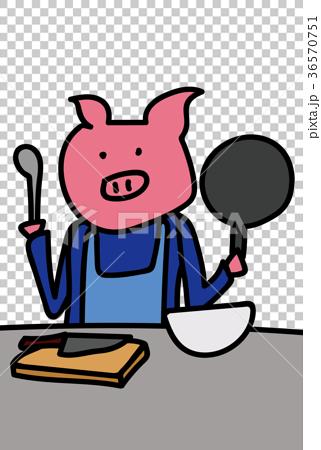 Cooking pig 36570751