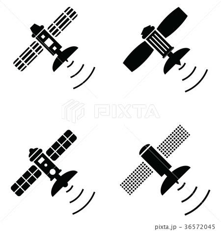 satellite icon set 36572045