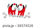 二匹の犬 36574526