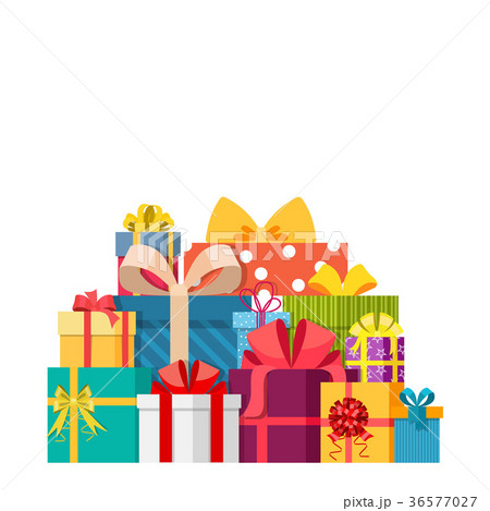 Big pile of colorful wrapped gift boxes 36577027 big pile of colorful wrapped gift boxes negle Choice Image