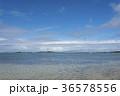 水平線と白い雲 36578556