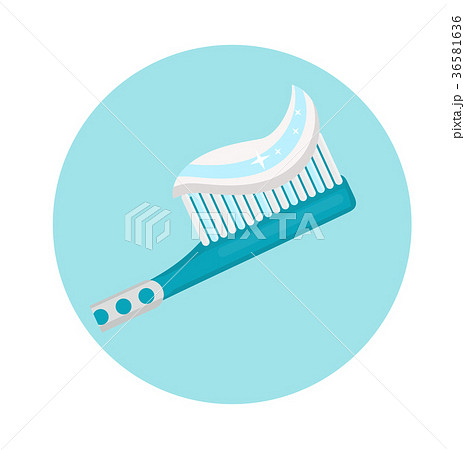 Toothbrush. Icon flat style. Dentistry, dentist 36581636