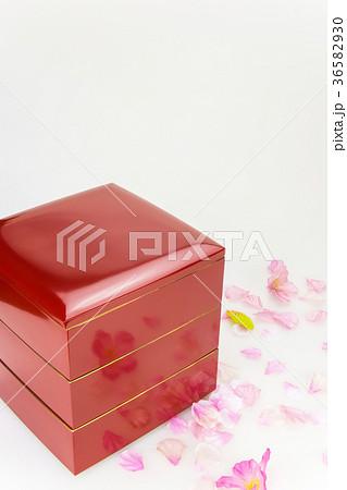 重箱と桜花の写真素材 [36582930] - PIXTA