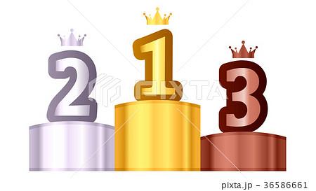 ランキング王冠のアイコンイラスト白背景 36586661