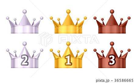ランキング王冠のアイコンイラスト白背景 36586665