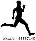 ランナー 走者 マラソンのイラスト 36587145