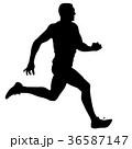 ランナー 走者 マラソンのイラスト 36587147