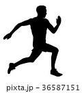 ランナー 走者 マラソンのイラスト 36587151