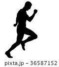 ランナー 走者 マラソンのイラスト 36587152