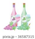 ワイン 赤ワイン 白ワインのイラスト 36587315