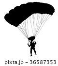スカイダイビング 黒色 黒のイラスト 36587353