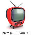 TV テレビ 赤のイラスト 36588946