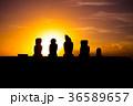 イースター島 モアイ像 石像の写真 36589657