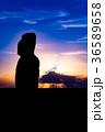 イースター島 モアイ像 石像の写真 36589658
