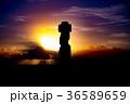 イースター島 モアイ像 石像の写真 36589659