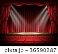 ステージ 赤 カーテンのイラスト 36590287