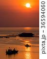 長崎 夕陽 船の写真 36594060