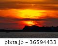 海 夕日 太陽の写真 36594433