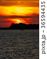 海 夕日 太陽の写真 36594435