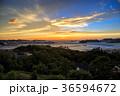 長崎 長崎港 夕陽の写真 36594672