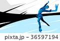 青 競争 競合のイラスト 36597194
