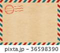 エアメール 手紙 国際郵便のイラスト 36598390