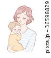 親子 ママ 赤ちゃんのイラスト 36598829