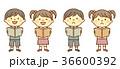 男の子 女の子 読書のイラスト 36600392