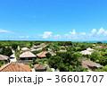 青空 沖縄 竹富島の写真 36601707