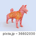 犬 干支 ローポリのイラスト 36602030