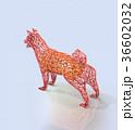 犬 干支 ローポリのイラスト 36602032