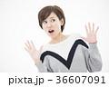 女性 若い びっくりの写真 36607091