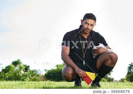 Handsome Soccer Referee Outdoors 36608079