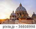夕景 大聖堂 サン・ピエトロの写真 36608998