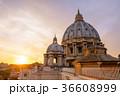 夕景 大聖堂 サン・ピエトロの写真 36608999