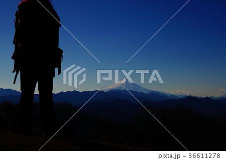 陣馬山山頂からの富士山を眺める 36611278