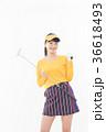 ゴルフ 女性 人物の写真 36618493
