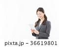 タブレット ビジネスウーマン 人物の写真 36619801