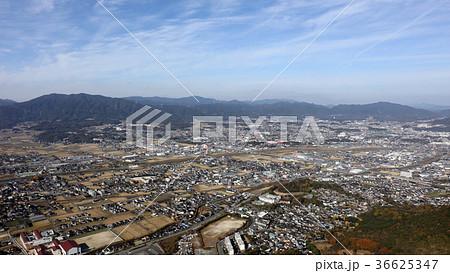 空撮 福岡県飯塚市(旧穂波町)の住友忠隈炭鉱(ボタ山) 36625347