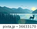 しか シカ 鹿のイラスト 36633170