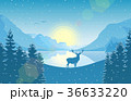 しか シカ 鹿のイラスト 36633220