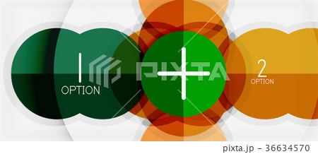 paper geometric circle banner templateのイラスト素材 36634570 pixta
