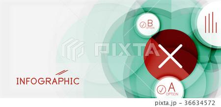 paper geometric circle banner templateのイラスト素材 36634572 pixta