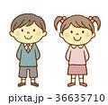 男の子 女の子 子供のイラスト 36635710