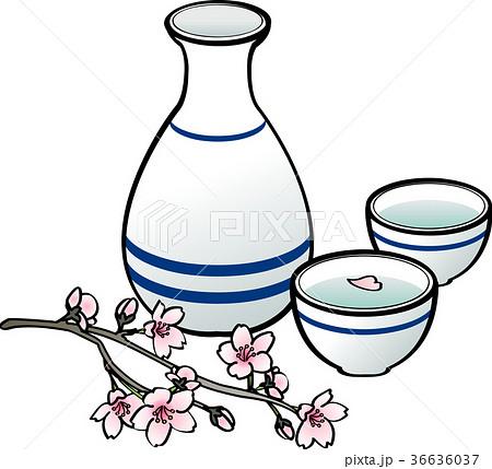 日本酒と桜 36636037