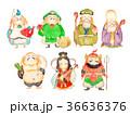 七福神 水彩画 36636376