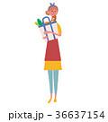 買い物をする 主婦 イラスト 36637154